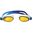 goggles yellow glass vector image