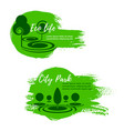 green eco city park nature icons vector image vector image