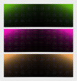 halftone dot pattern banner design from - from vector image vector image
