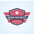 Home security badge vector image vector image