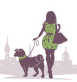 Lady with the Dog vector image vector image