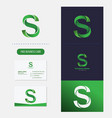 letter s logo premium vector image vector image