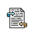 letter text translation feedback flat color icon vector image