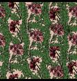magic tulips seamless pattern vector image vector image