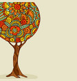mandala tree hand drawn floral art vector image vector image