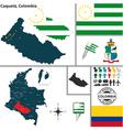 Map of Caqueta vector image vector image