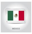 mexico flag design vector image