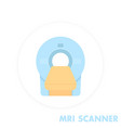 mri scanner icon flat style vector image