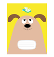 Notebook cover Composition book template Dog big vector image vector image