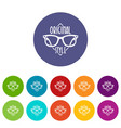 original style icons set color vector image vector image