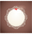 ornament retro knitted vector image vector image