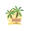 palm beach logo design summer pattern vector image vector image