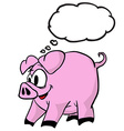pig with thought bubble vector image vector image