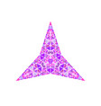 polygonal isolated abstract colorful triangle vector image vector image