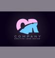 qr alphabet letter join joined letter logo design vector image vector image