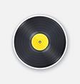 retro vinyl lp record with yellow label vector image