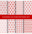 set eastern abstract symbol patterns vector image vector image