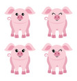 set four pigs vector image vector image