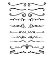 set hand drawn text dividers for poster card vector image