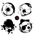 set of 4 circles design elements for background vector image vector image