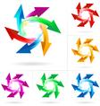 set of arrow circles vector image