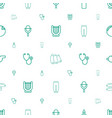single icons pattern seamless white background vector image vector image