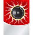 speaker on red background vector image