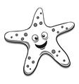 Starfish black and white vector image