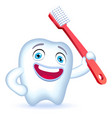 cartoon tooth character with hand on his hip vector image