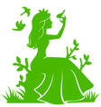 princess in the forest vector image