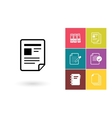 Document icon or file symbol vector image