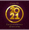 2021 seasons greetings gold card ball graduates vector image vector image