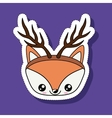 animal with reindeer horns isolated icon design vector image vector image