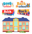 back to school funny cartoon vector image