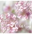 background with sakura and magnolia vector image vector image