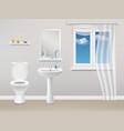 bathroom interior realistic vector image vector image