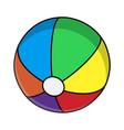 beach ball symbol icon design vector image vector image