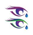 beautiful eye logo with eye tear bundle set