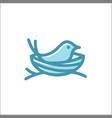 bird nest logo line art outline download monoline vector image
