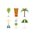 brazil related icons vector image