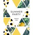 bright summer hawaiian design with tropical plants vector image