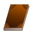brown book isolated on white background vector image vector image