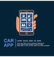 Car security system phone app vector image vector image