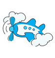 cartoon airplane plastic toy for children flying vector image