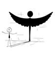 cartoon good businessman or politician casting vector image vector image