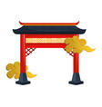 chinese red gate vector image