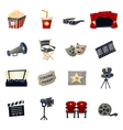 Cinema Icons Flat vector image vector image