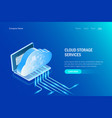cloud storage services isometric concept data vector image