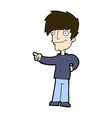 comic cartoon man pointing vector image vector image