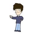 comic cartoon man pointing vector image